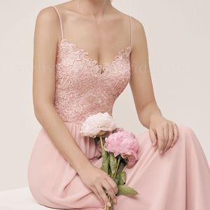 Lace & Chiffon Rose Bridesmaids dress